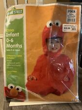 ELMO SESAME STREET COSTUME FOR  BABY INFANT FUZZY JUMPSUIT SIZE 0-6 MONTHS