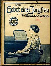 1900 Das Gebet einer Jungfrau von Badarzewska Musik Sheet Music