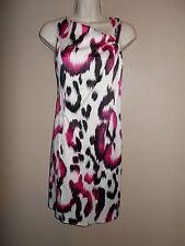 S.L. Fashions Womens Size 10 Multi-Color Sheath Dress Sleevels Asymmetrical Neck