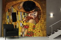 Retro Abstract Art Deco Wallpaper 3d Kiss Painting Wall Background Mural Rolls