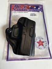 Desantis 019BA8BZ0 Glock 43 Mini Scabbard Black Right Hand Belt Holster NEW!