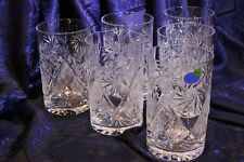 Set of 6 Neman Glass, 8-Oz Hand Made Vintage Russian Crystal Tea Beverage