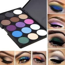 15 Color Cosmetic Eye Shadow Pigments Eyeshadow Palette Matte Set UK High-Q HY