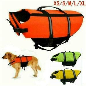 Schwimmweste Rettungsweste für Hunde Warnweste Schwimmhilfe waschbar Sommer Neu