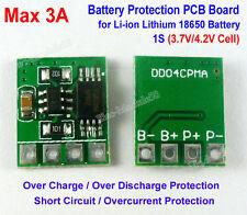 3.6V 3.7V 4.2V 3A Li-ion Lithium 18650 Battery Input Ouput Protection Board PCB