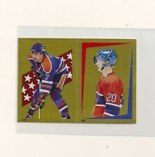 1986-87 O-Pee-Chee Gold Foil Sticker #112/126 Paul Coffey & Kjell Dahlin