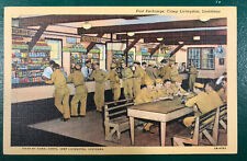 Vintage WWII Era Post Exchange, Camp Livingston, Louisiana Post Card Signal Corp