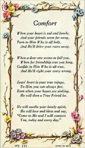 Words of Comfort  Prayer Card in Pvc Wallet Size - Catholic / Christianity