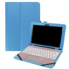 "Smart PU Leather Folio Case Keyboard Cover Fr Asus Transformer BooK T101HA 10.1"""