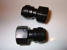 "½"" BSP female to 12mm push fit Food Grade water Pump Filter connector (2 Pack)."