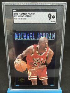 1993-94 Michael Jordan Skybox Premium #CS1 Centre Stage Graded 9 Mint 💯🔥