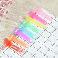 50x Girl Candy Color Plastic Single Prong Alligator Teeth Hair Clips Bow DIY