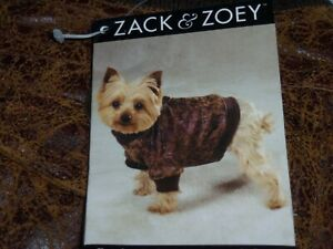DOG/Pet  BOMBER JACKET  by Zack & Zoey   size Small  NWT  brown