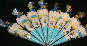 Minions Party Bags Personalised Pre Filled Goody Cones Birthday Sweets