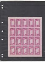 1952 Liberia Imperf Error Mint Never Hinged Stamps Sheet Ref 35941