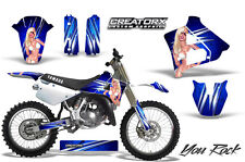 YAMAHA YZ125 YZ 125 2 STROKE 1991-1992 GRAPHICS KIT CREATORX DECALS YRBL