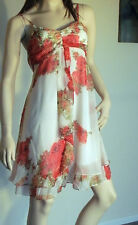 Floral Print Spaghetti Straps Short Cocktail/Party Dress Brand New WT Size 12