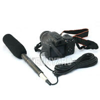 DSLR Interview Condenser Uni-Directional Camera Camcorder Microphone Mic 3.5mm