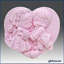 Cutest Couple,Detail of high relief sculpture, silicone Soap/polymer/clay mold