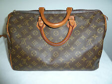 *Louis Vuitton*Speedy35*All Over Monogramm Canvas*Vintage*Braun*Groß*