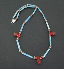NILE  Ancient Egyptian Poppy Seed Amulet Mummy Bead Necklace ca 1200 BC