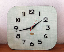 superbe horloge pendule formica  vert   Des Années 50's/ 60's  AVR29