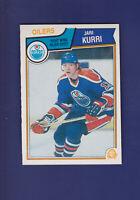 Jari Kurri HOF 1983-84 O-PEE-CHEE OPC Hockey #34 (NM+) Edmonton Oilers