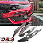 4x Carbon Fiber Front Bumper Canards Diffuser Lip Splitter Fins For Honda Civic
