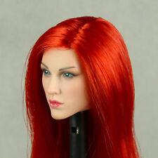 1/6 Scale Phicen Sexy Captain Sparta Female Head Sculpt Pale Skin w/ Red Hair