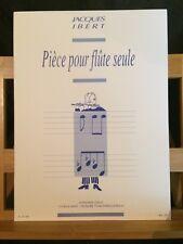 Jacques Ibert Pièce pour flûte seule partition éditions Leduc