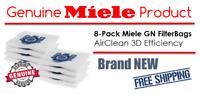 Genuine Miele GN FilterBag AirClean 3D Efficiency | 8-Pack Vacuum Cleaner Bags