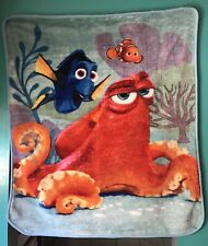 "Disney Finding Nemo, Dory, Octopus Plush Blanket 40"" x 50"" - Preowned"