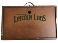 Vintage The Original Lincoln Logs Building Set Collectors Edition Wooden Box