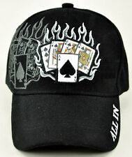 NEW! ALL IN POKER TEXAS HOLD'EM SHADOW CAP HAT BLACK