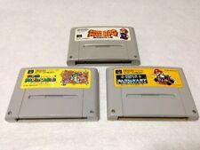 Lot of 3 Snes Super Famicom games, Mario Kart, Mario Rpg, Mario World
