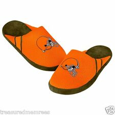 NFL Cleveland Browns Team Jersey Indoor/Outdoor Slippers ~ Size LRG (11-12)