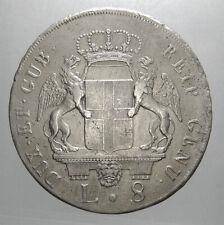 GENOVA - GOVERNO DEI DOGI BIENNALI - 8 LIRE 1797 -  Ottima conservazione