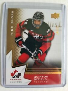 2020 Team Canada Juniors Quinton Byfield High Gloss /25 2020-21