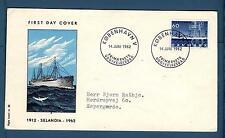 "DENMARK - DANIMARCA - 1962 - BUSTA - FDC - 50° del battello a vapore ""Selandia"""