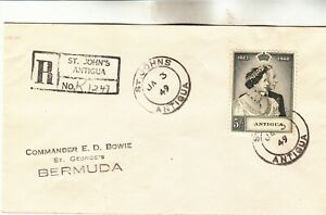 Antigua Registered First Day Cover