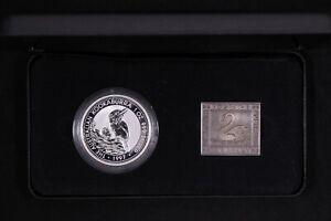 Australian Kookaburra 1997 Silver 1oz Coin & 1oz Medallion Set Fremantle Show