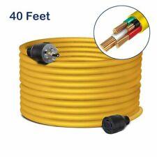 40 Feet Nema L14 30 Generator Power Cord Heavy Duty Electric Extension 4 Prong