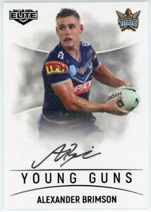 2019 Elite Alexander AJ Brimson (Titans) Young Guns Signature NRL Card # 73/90