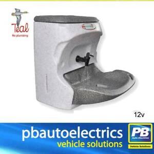 Teal Handeman Xtra 12v Hot Water Hand Wash Portable Sink For Work Vans - HMXG12V