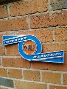 GULF sign oil PETROL gulf gasoline Garage cast aluminium VAC059
