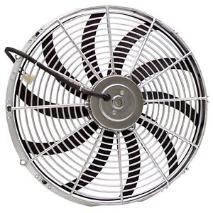 "16"" Zirgo Chrome 3000 fCFM High Performance Blu Cooling Fan zirgo ZIRZFBC16S rat"