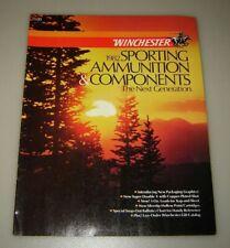 Vintage Winchester 1982 Sporting Ammunition & Components Catalog Brochure.