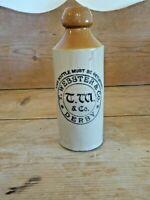 Rare Antique  Stoneware Bottle- T.webster & Co. Derby