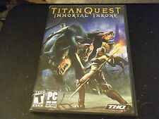 Titan Quest: Immortal Throne (PC, 2007) - No Manual or Key Number