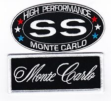 CHEVY SS MONTE CARLO SEW/IRON ON PATCH BADGE EMBROIDERED 396 454 383 STROKER